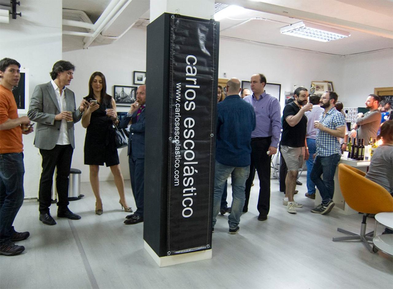 Inauguración exposición en ESPACIO RAW GALLERY. Madrid. Carlos Escolástico