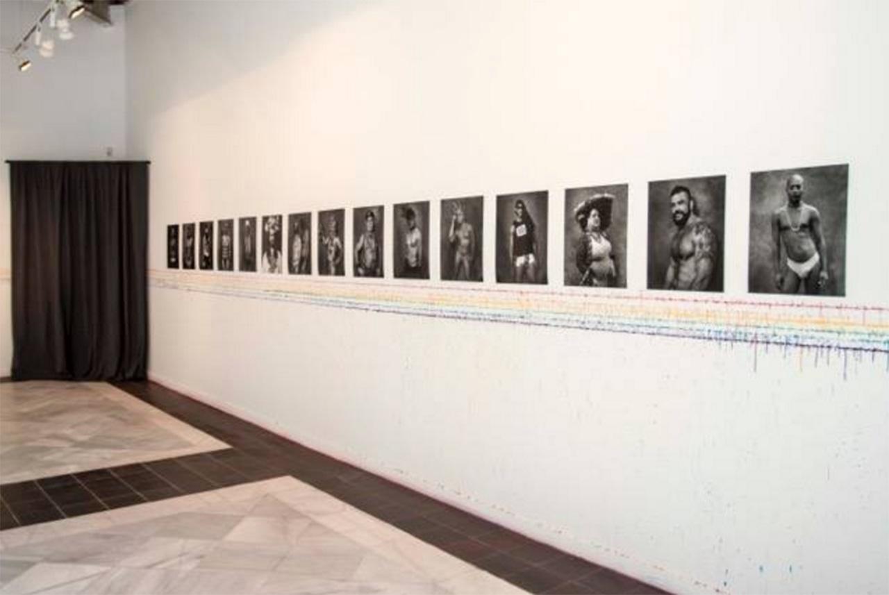 Carlos Escolástico. Inauguración exposición en Casa de VAcas. Madrid. Carlos Escolástico